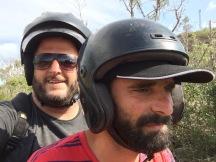 Concentrat dalt de la moto