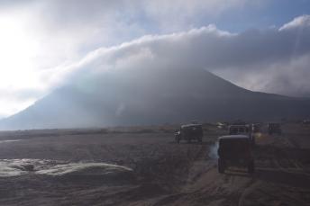 Els jeeps amb turistes camí de Bromo