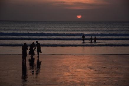 Posta del sol a la platja de Kota