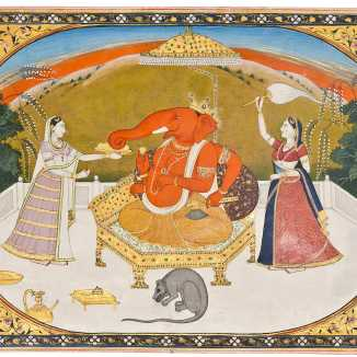 Ganesh with devotees