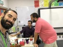 Preparant la classe amb en Beren