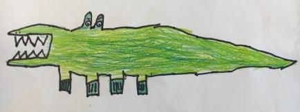 Un dibuix d'un nen de Y4