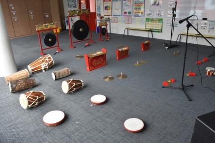 L'aula preparada per la sessió