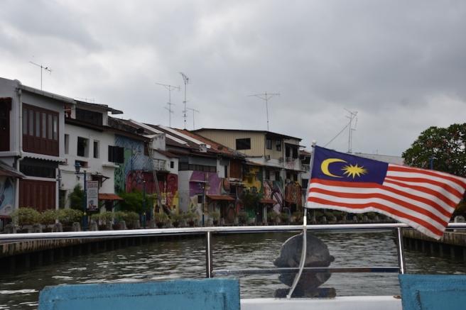 Fent el creuer pel riu de Melaka
