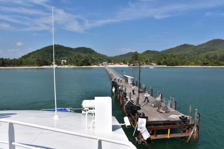 Deixant el port de Chumphon
