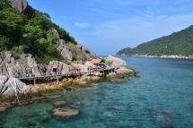 Les petites illes Nang Yuan davant de Koh Tao