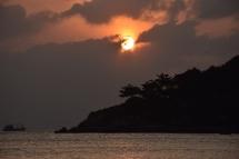 Posta de sol a Junn Jeua Bay