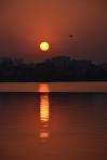 La posta de sol des del llac Ho Tay