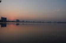 L'Skyline de Hanoi al vespre