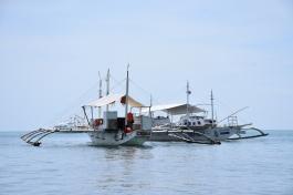 El nostre transport a Malapascua, un bangkas