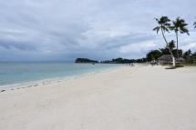 La platja al nord de l'illa