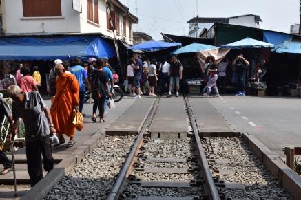 Entrada al mercat de Mae Klong