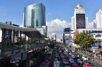 El tràfic al centre de Bangkok