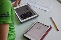Aquest cop toca dibuixar amb l'iPad i fer servir el truc del llapis