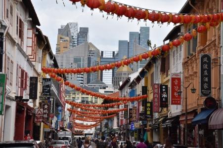 Un dels carrers de Chinatown