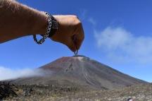 Deixant l'anell al Mt. Ngauruhoe