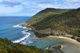 Vistes a la Great Ocean Road des de Teddy's Lookout