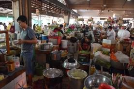 La zona del menjar a Central Market