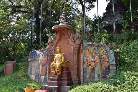 Detall dels voltants de Wat Phnom