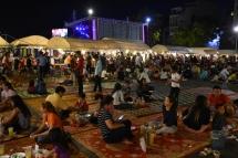 Zona per menjar a Night Market