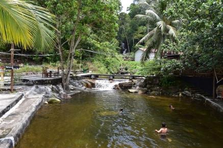 La piscina natural de l'hotel