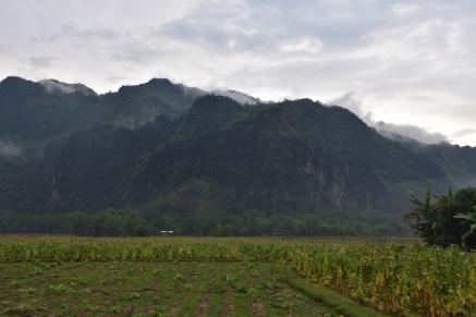 Paisatge que envolta el poblet de Kong Lor