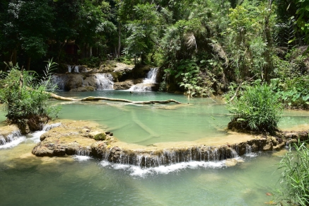 Les basses de Kuangsi Waterfall Park